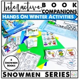 Interactive Snowmen Series and Winter Theme Book Companions for Speech Therapy