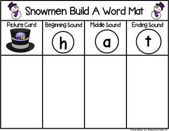 Snowmen Build a CVC Word