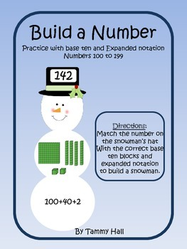 Snowmen: Build a Number: 100 to 199