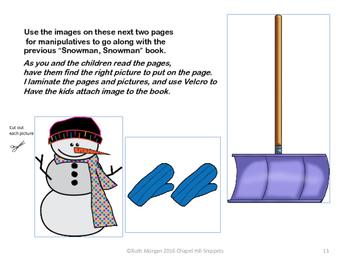 Snowmen Packet--Snowman Snowman What do you see?, 5 Little Snowmen,  Bingo