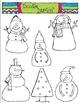 Snowmen COMBO Clipart Set