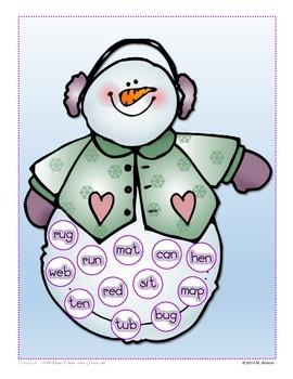 Snowmen CVC Bingo