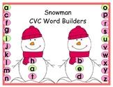 Snowmen CVC Word Builders