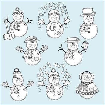 Snowmen Clip Art