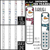 Snowmen Clip Art - Math Ten Frames {jen hart Clip Art}