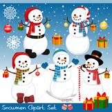 Snowmen Snow Man Winter Christmas Clipart Set