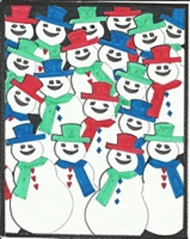 Snowmen Color by Number Snowman Christmas