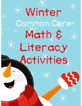 Winter Common Core Math & Literacy Activities
