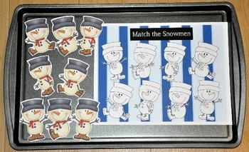 Snowmen Cookie Sheet Activities