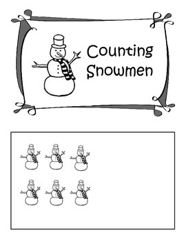 Snowmen Counting Book 1 - 10