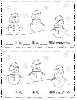 Snowmen Counting Emergent Reader