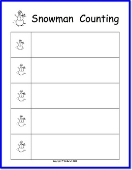 Snowmen Counting for PreK