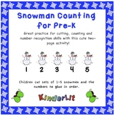Snowmen Math - Counting Sets in PreK