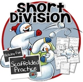 Snowmen Division Practice Sheets- Scaffolded and Differentiated Long Division
