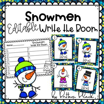 Snowmen- Editable Write the Room