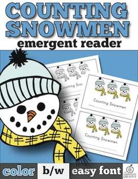 Snowmen Emergent Reader: Snowmen Counting with One-to-One Correspondence