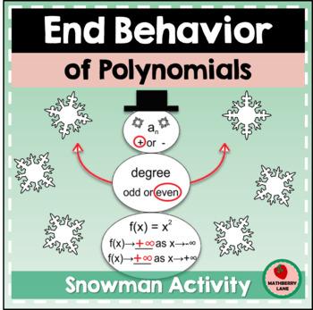Snowmen End Behavior of Polynomials Practice