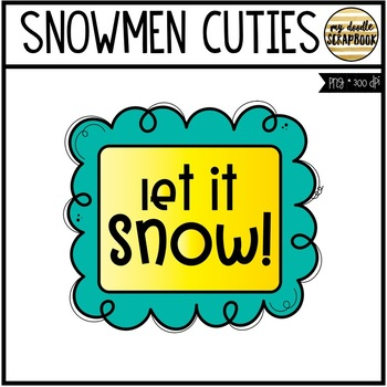 Snowmen FREEBIE (Clip Art for Personal & Commercial Use)