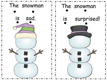 Snowmen Feelings Mini Book