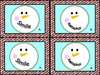 Snowmen Figurative Language Match Activity