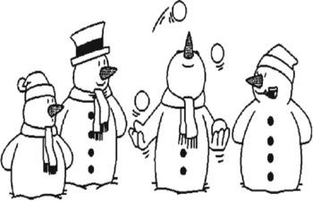 Snowmen Following Directions Activity