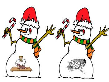 Snowmen Friends - A Winter Rhyming Concentration Game