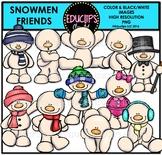 Snowmen Friends Clip Art Bundle {Educlips Clipart}