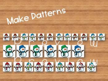 Snowmen Friends, Matching, Comparing, Sorting & Patterning