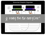 Snowmen Graphic Organizer Compare/Contrast and Text-to-Tex