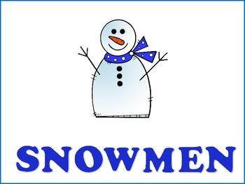 Snowmen - Graphic Organizers
