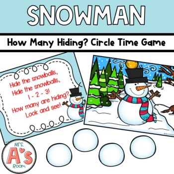 Snowmen How Many Hiding? Circle Time Game