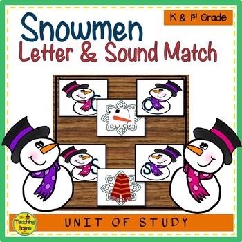 Snowmen Letter & Sound Match Game
