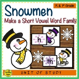 Snowmen Make A Short Vowel Word Family Center