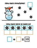 Snowmen Making 10 ~ Common Core ~ Math Center ~ Ten Frame