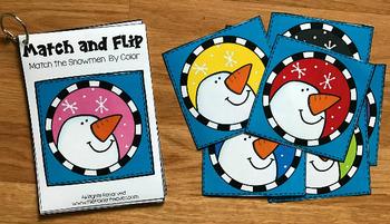 Snowmen Match and Flip Books
