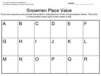 Snowmen Math