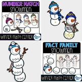 Snowmen Math Bundle: Number Matching and Fact Families