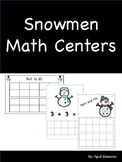Snowmen Math Centers: Number Order and Matching Cards
