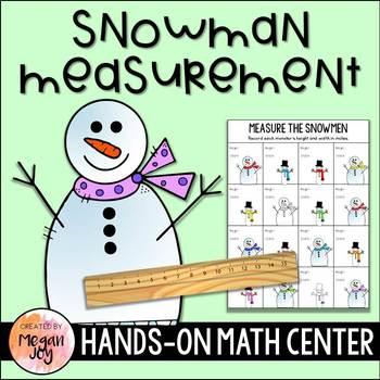 Snowmen Measurement Math Center
