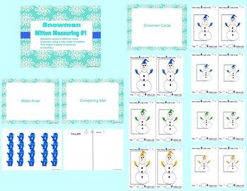 Snowman Mitten Measurement (Common Core Math)