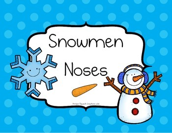 Snowmen Noses Estimation~Winter Printables To Build Number Sense