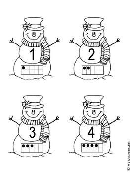 Snowmen Numbers 1-10