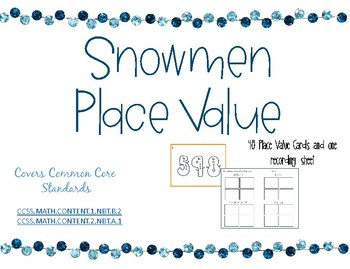 Snowmen Pace Value Task Cards