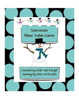 Snowmen Place Value Game