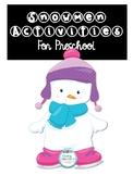Snowmen Preschool Activities