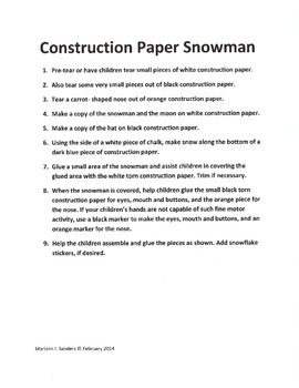 Snowmen Projects for a  Week