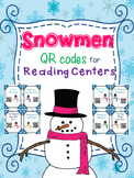 Snowmen QR codes for Reading Centers