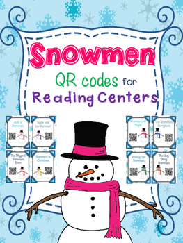 Snowmen QR codes for Reading Centers