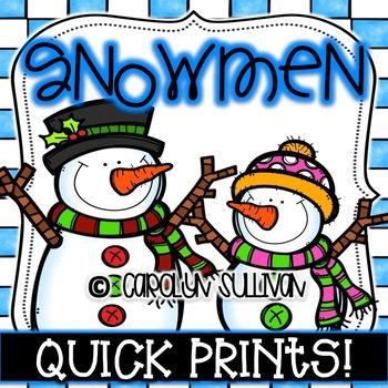 Snowmen Quick Prints : No PREP