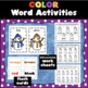 "Snowmen ""Read the Room"": Numerals, Number and Color Words, for little kids"